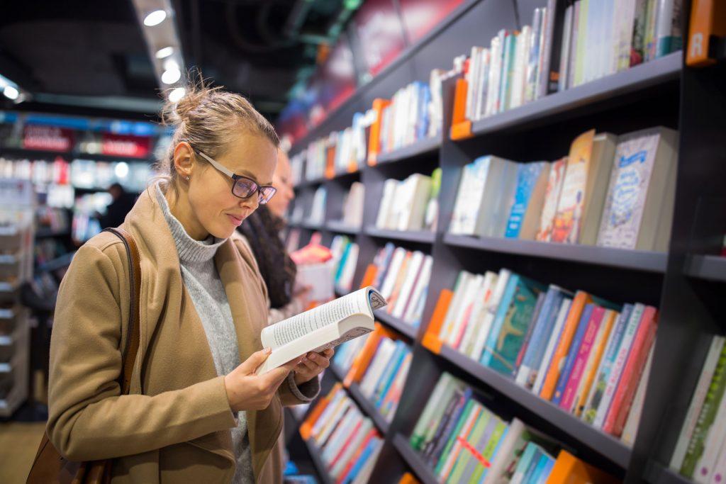 Woman In Bookstore
