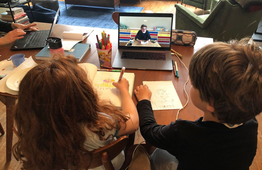 Mo Willems Teaching Drawing Online