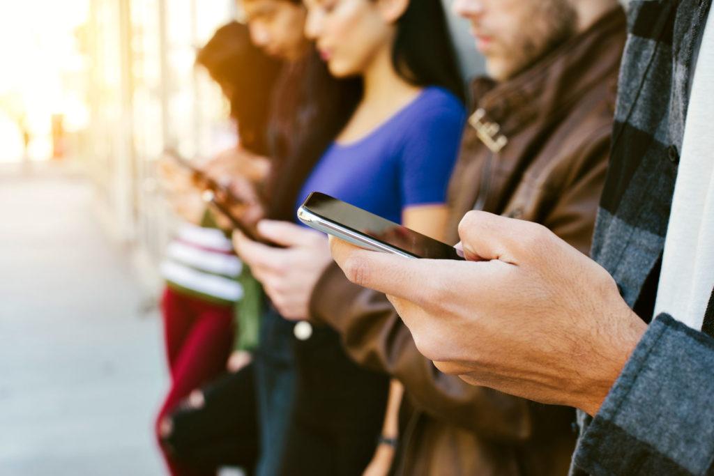 Group Staring at Phones